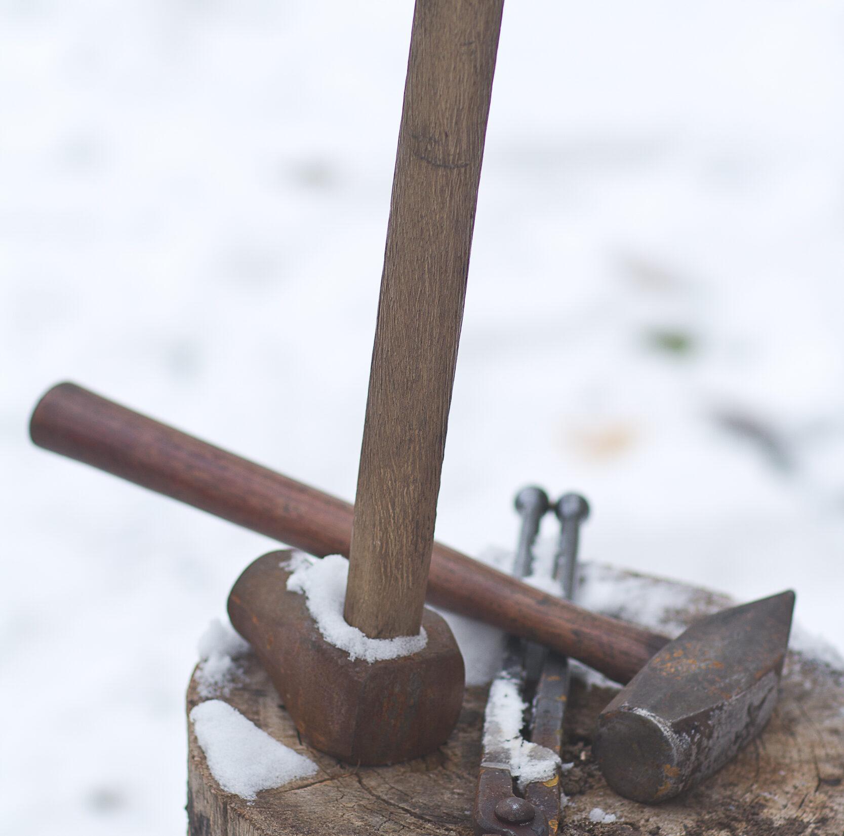 Snowed tools.