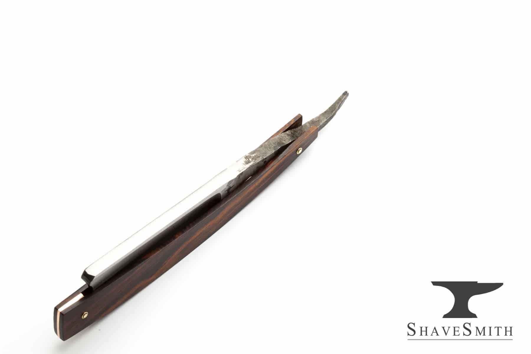 7/8 Wedge Grind, Iron Wood, Forge Finished – Custom Straight Razor