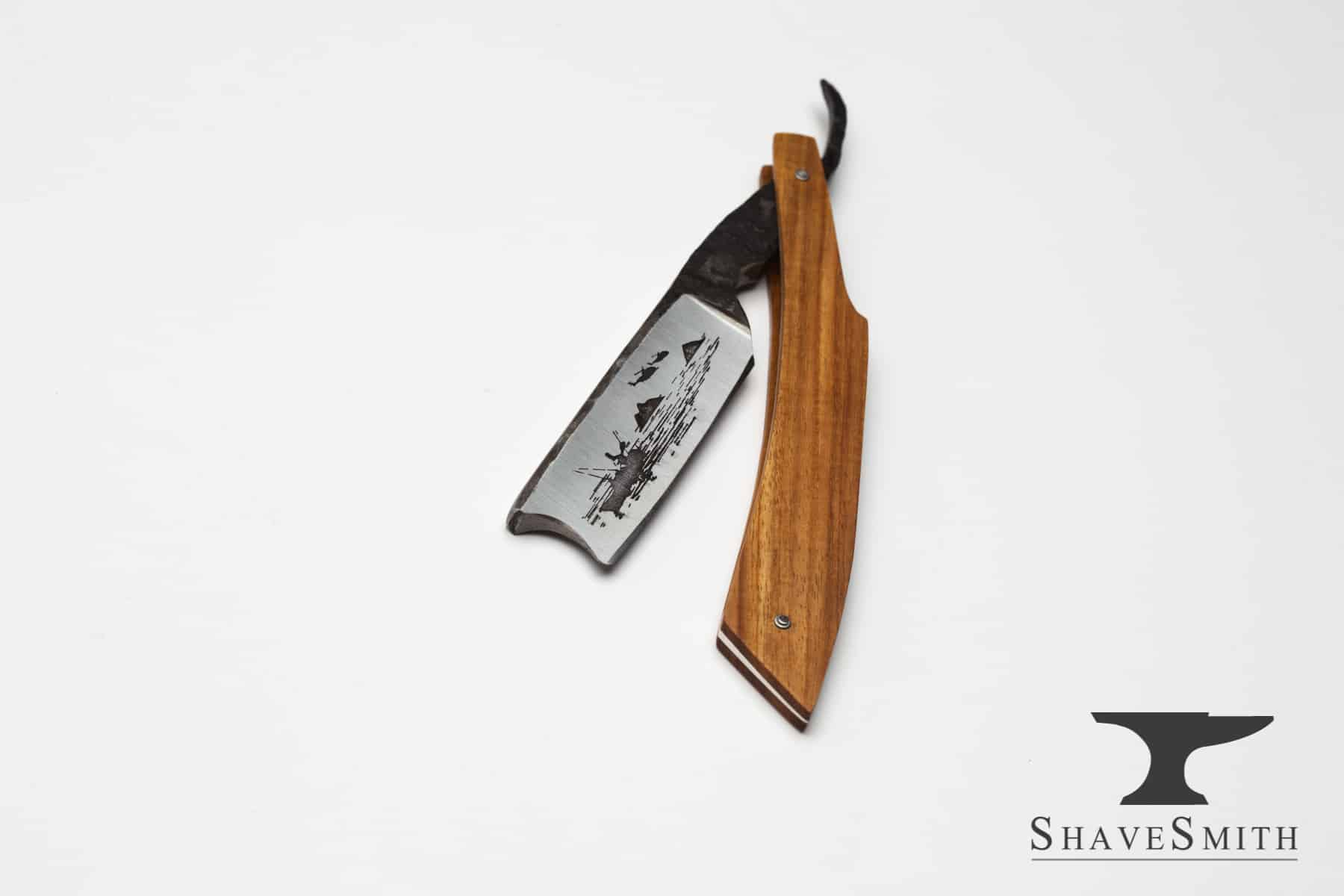 Veteran's Day, 2016, Custom Straight Razor in Canary Wood, Fine Silver.
