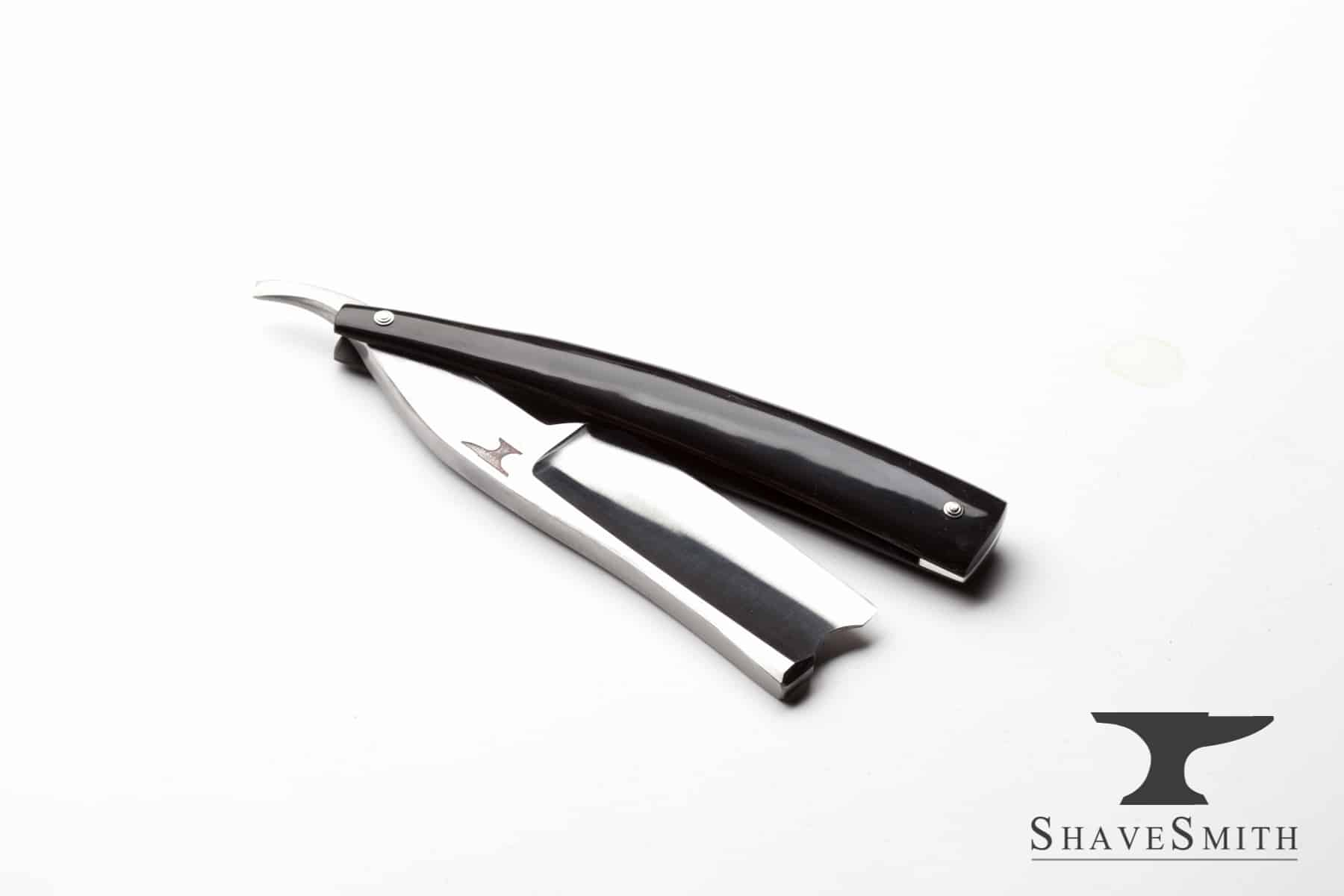 "A recent interpretation of an 1800's classic Sheffield design, often called the ""For Barber's Use"". A name given to the largest blades made by the English razor makers, affectionately known as choppers. Keen shaver, nice grind, and a beautiful junction between polished steel, ox horn, and a subtle engraving as a reminder of those who mean the most to us."