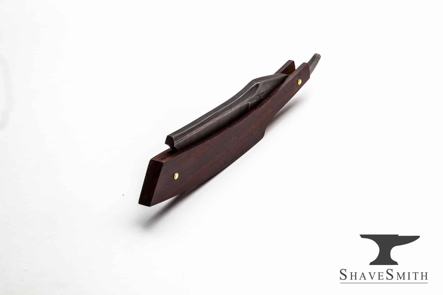 Sherwood's Best - 9/8 Damascus English Inspired Custom Straight Razor