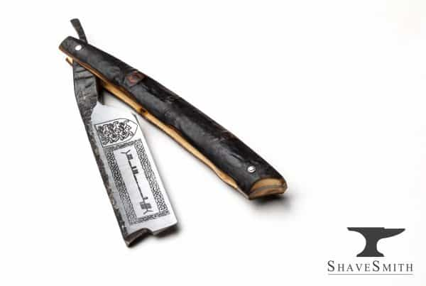 O'Brien's Shillelagh - 7/8 Forge Forge Finsih, Blackthorn Wood, Fine Silver - Custom Straight Razor